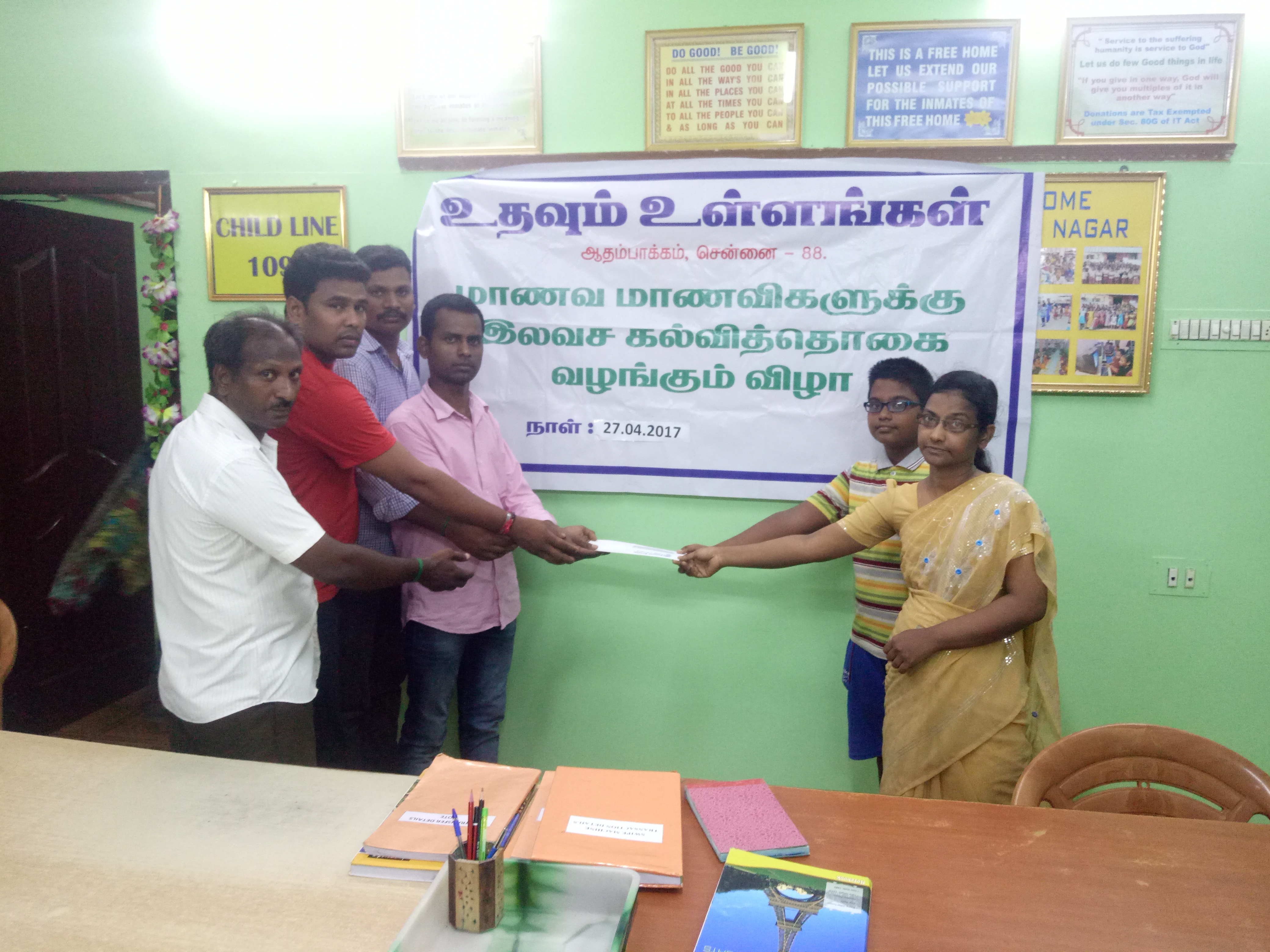 Medical expenses were sponsored to t destitute women at Adambakkam.